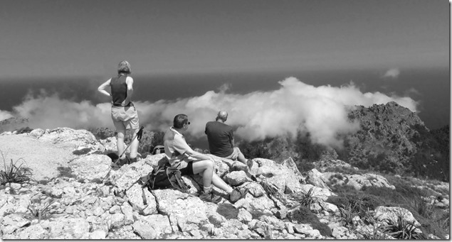 Above the clouds on Sa Bassa